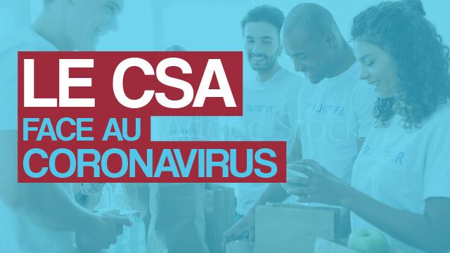 Le CSA face au Coronavirus
