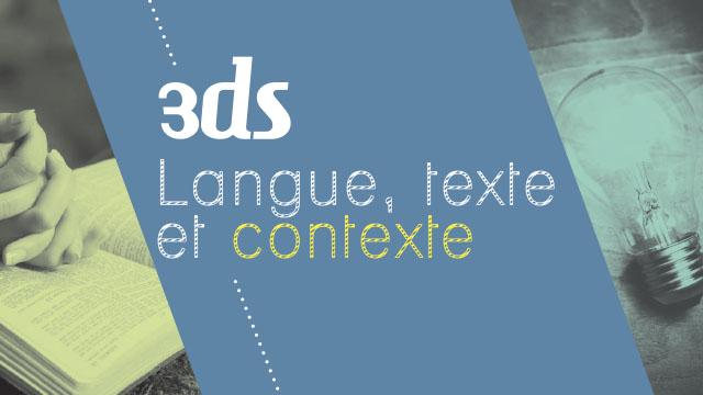 Langue, Texte et Contexte | Trio EDS