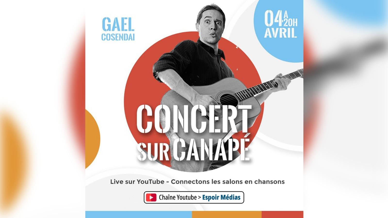 Concert de Gaël COSENDAI sur Canapé