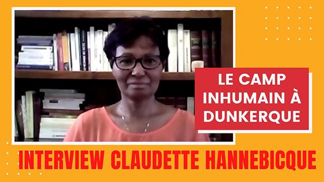 Claudette Hannebicque - Les réfugiés du camp de Grande Synthe