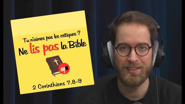 Tu n'aimes pas les critiques ? Ne lis pas la Bible | POST-IT