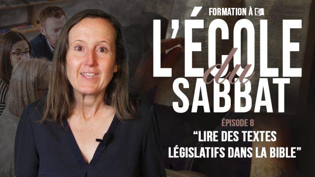 Formation EDS #8 – Lire des textes législatifs dans la Bible